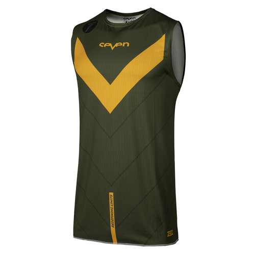 Camisola MX Seven 19.1 Zero Youth Victory Over - Olive Orange