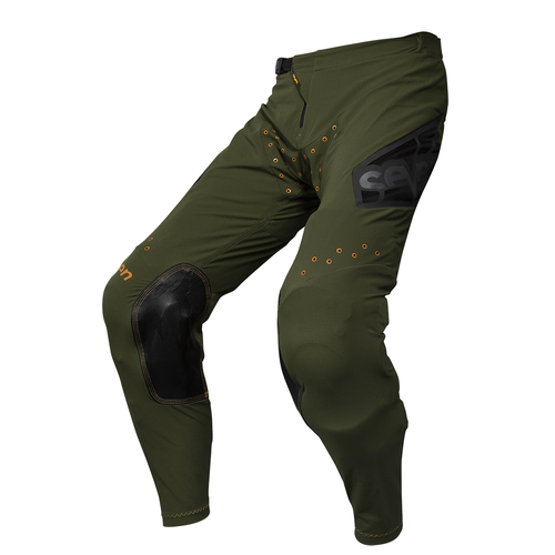 Seven 19.1 Zero Youth Victory Youth Motocross Pants - Olive Orange
