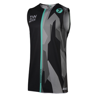 Seven 19.1 Zero Raider Over Motocross Jerseys - Black Aqua