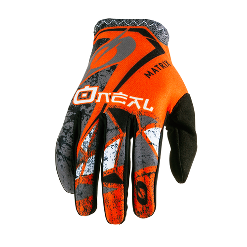 O Neal Matrix Glove Zen Motocross Gloves - Orange
