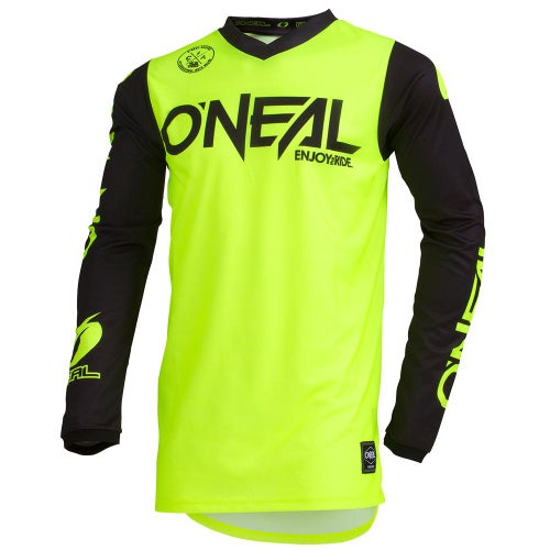 O Neal Threat Rider Motocross Jerseys - Neon Yellow