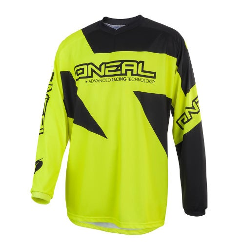 O Neal Matrix Jersey Ridewear Motocross Jerseys - Neon Yellow