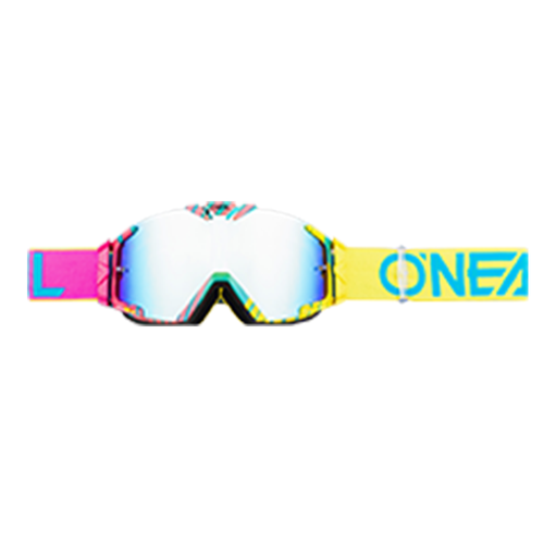 O Neal B-30 Duplex Motocross Goggles - Pink/blue/neon Yellow