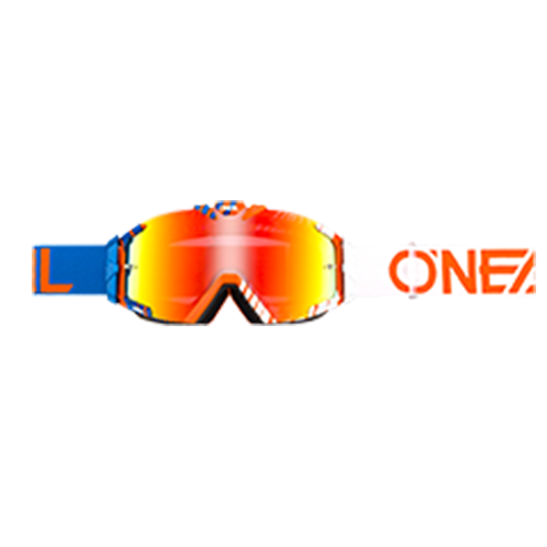 O Neal B-30 Duplex Motocross Goggles - Blue/white/orange
