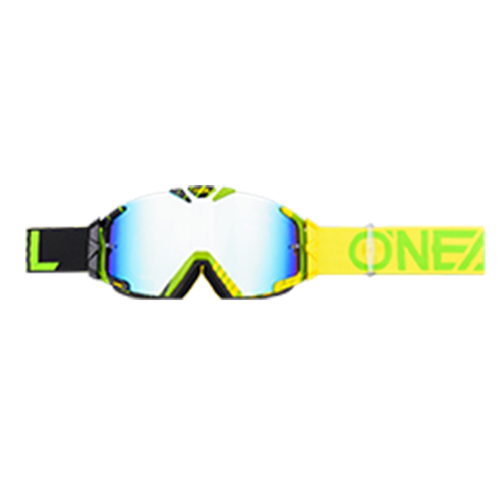 O Neal B-30 Duplex Motocross Goggles - Black/neon Yellow/green