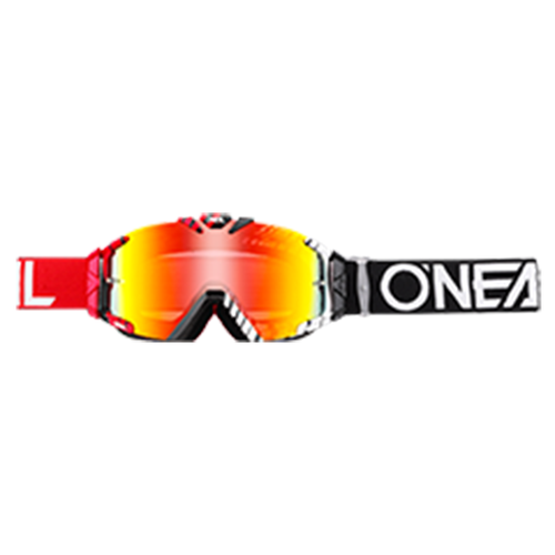 O Neal B-30 Duplex Motocross Goggles - Black/red/white