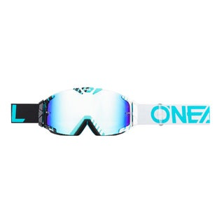 O Neal B-30 Duplex Motocross Goggles - Black/white/teal