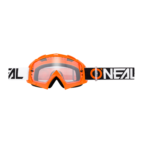 O Neal B-10 Twoface Hi-viz - Clear Motocross Goggles - Orange