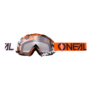 O Neal B-10 Goggle Crank Multi - Clear Motocross Goggles - Orange/white