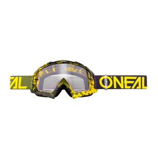 O Neal B-10 Pixel Hi-viz/green - Clear Motocross Goggles - Neon Yellow/green
