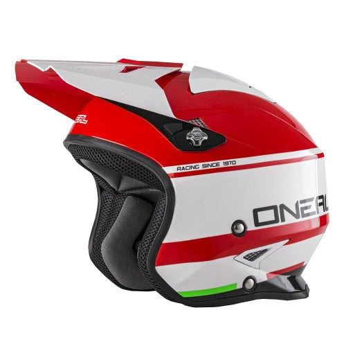 O Neal Slat Helmet Crimson Trials Helmet - Red/white