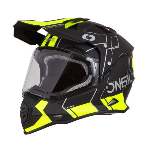 O Neal Sierra II Comb Adventure Helmet - Black/neon Yellow