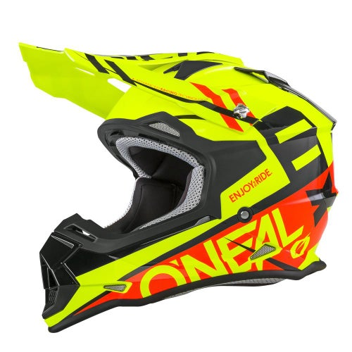O Neal 2series Rl Helmet Spyde Motocross Helmet - Black/red
