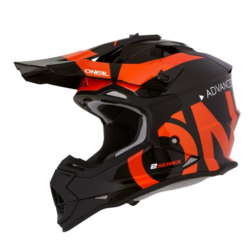 O Neal 2series Rl Helmet Slick Motocross Helmet - Black/orange