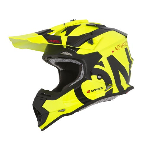 Casco MX O Neal 2series Rl Helmet Slick - Neon Yellow