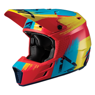 Leatt GPX 3.5 YOUTH Enduro and Motocross Helmet - Red/Lime