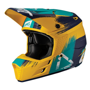 Leatt GPX 3.5 V191 Enduro and Motocross Helmet - Gold/Teal