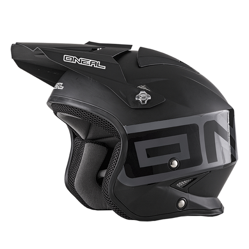 Trials Helmet O Neal Slat Solid MX Motocross and Enduro Helmet - Matte Black