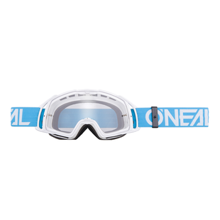 O Neal B20 Flat MX Motocross and Enduro Goggles Teal White Lens Motocross Goggles - Clear