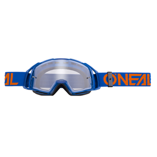 O Neal B20 Flat MX Motocross and Enduro Goggles Blue Orange Lens Motocross Goggles - Clear