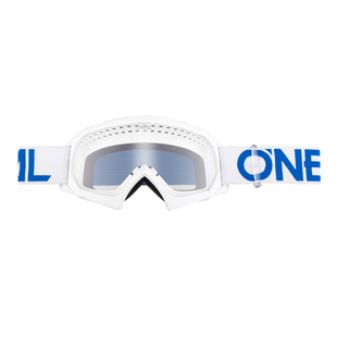 O Neal B-10 Solid Boys Motocross Goggles - White/Blue