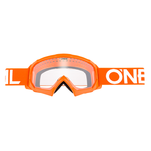 O Neal B-10 Solid Boys Motocross Goggles - Orange/White