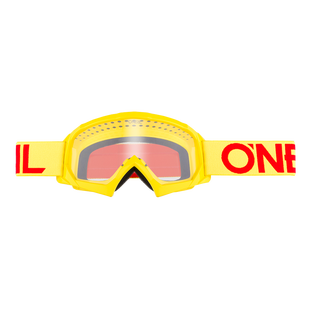 O Neal B-10 Solid Boys Motocross Goggles - Hiviz/Red