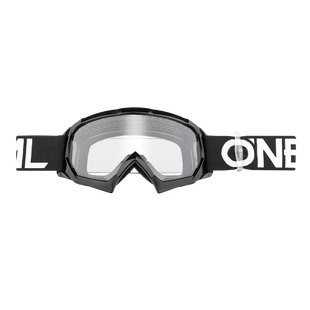 O Neal B-10 Solid Boys Motocross Goggles - Black/White