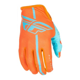 Fly Lite MX Motocross Gloves - Orange / Blue