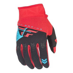 Fly F16 YOUTH Motocross Gloves - Red / Black