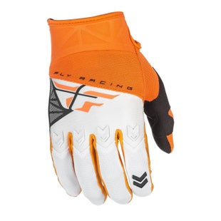 Fly F16 YOUTH Motocross Gloves - Orange / White