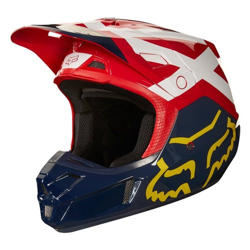 Fox Racing V2 Preme Motocross Helmet - Navy