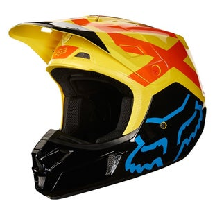 Fox Racing V2 Preme Motocross Helmet - Black/Yellow