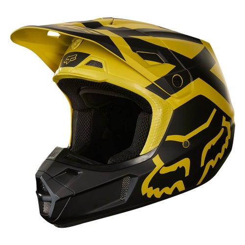 Fox Racing V2 Preme Motocross Helmet - Dark Yellow