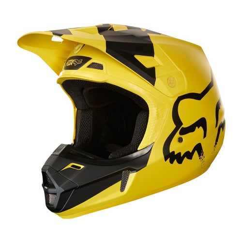 Fox Racing V2 Mastar Motocross Helmet - Yellow