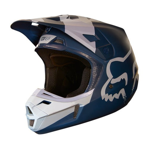 Fox Racing V2 Mastar Motocross Helmet - Navy