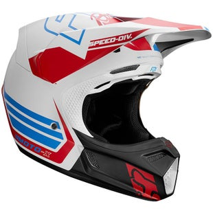Fox Racing V3 Motocross Helmet - Red White Blue