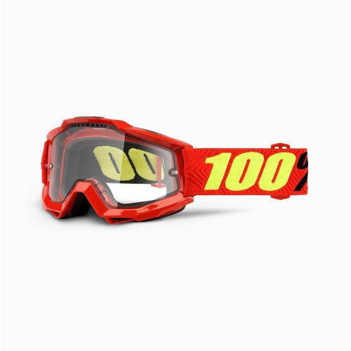 100 Percent Accuri Saarinen Enduro Motocross Goggles - Dual Clear Vented Lens