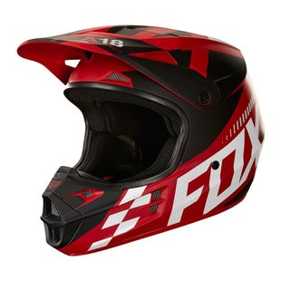 Fox Racing V1 Sayak YOUTH Motocross Helmet - Red