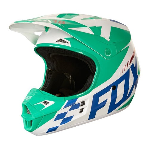Fox Racing V1 Sayak YOUTH Boys Motocross Helmet - Green