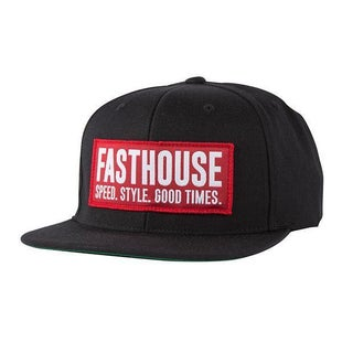 Fasthouse Block House Cap Cap - Red-black