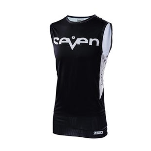 Seven 19.1 Zero Staple Over Vest Motocross Jerseys - Black