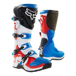 Fox Racing Comp 5 Motocross Boots - Red/White/Blue
