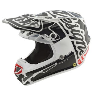 Troy Lee SE4 Polyacrylite YOUTH Boys Motocross Helmet - Factory White