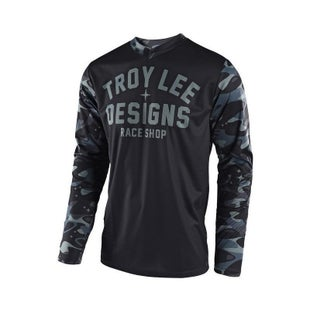 Troy Lee GP Cosmic Camo Motocross Jersey Motocross Jerseys - Grey