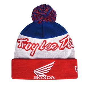 Troy Lee Honda Vintage Pom Beanie - Red
