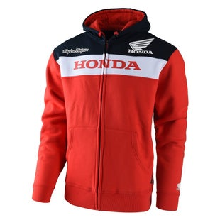 Troy Lee Honda Fleece Zip Hoody - Red