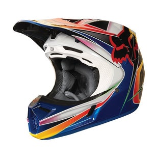 Fox Racing V3 Kustm Motocross Helmet - Multi