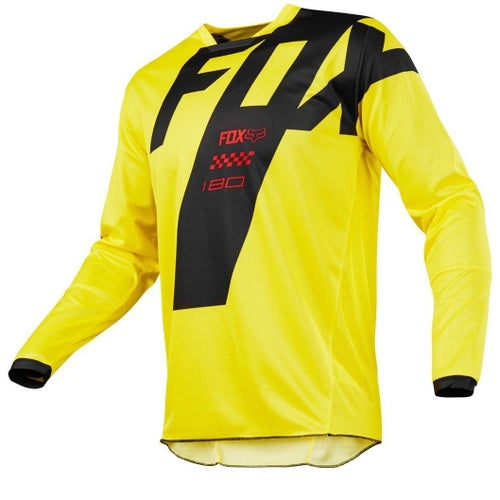 Fox Racing 180 Mastar Motocross Jerseys - Yellow
