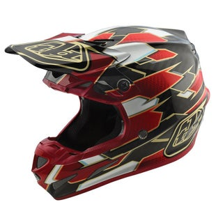 Troy Lee SE4 Maze Carbon MX Motocross Helmet - Red Black